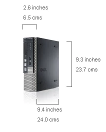 Dell Optiplex refurbished 7010 USFF dimensions