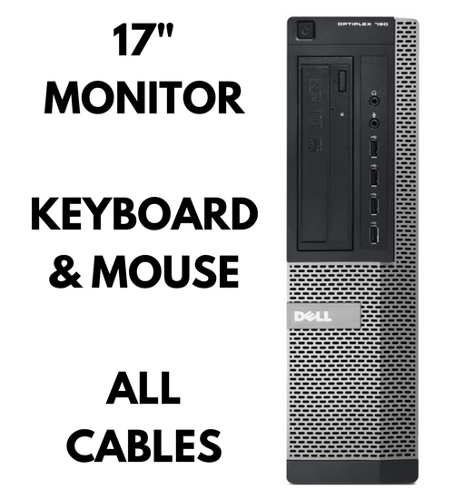 Dell Optiplex 790 Desktop Front complete bundle keyboard mouse monitor