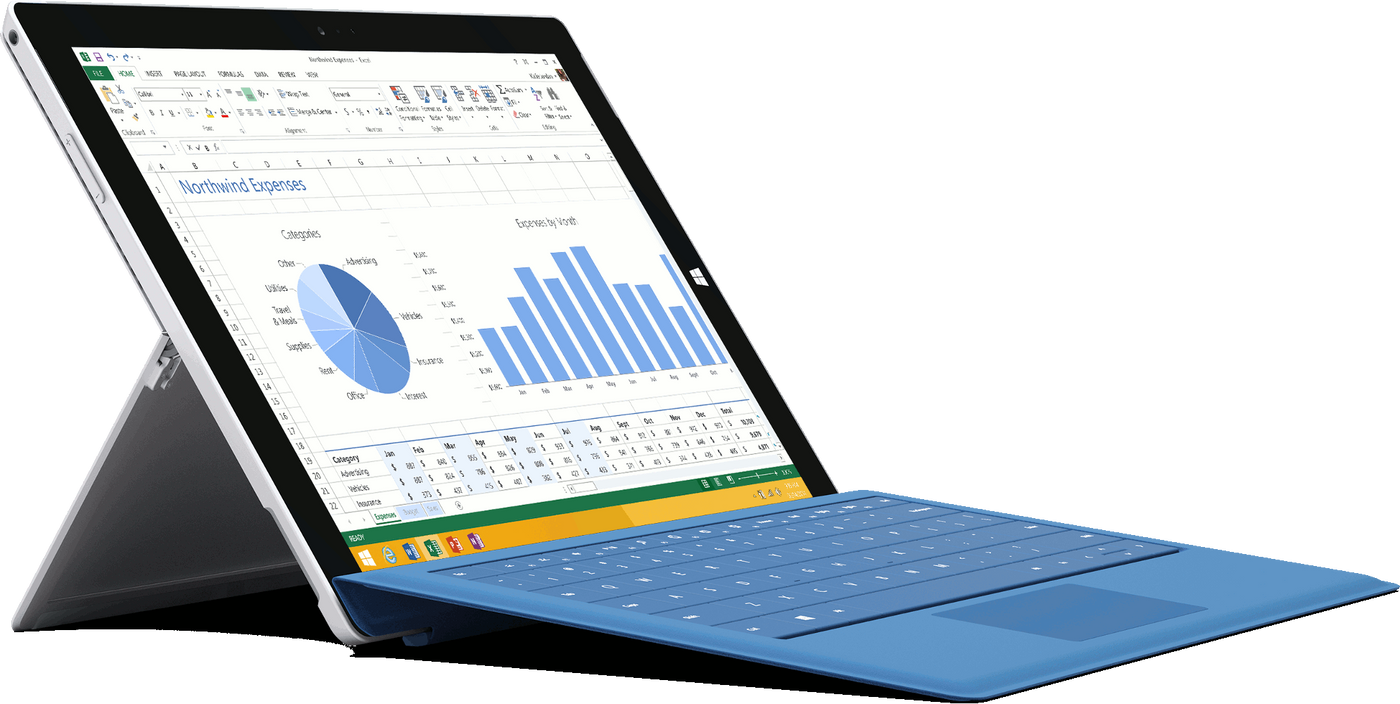 Microsoft Surface Pro 3 Complete Bundle - i5, 128GB SSD, 4GB RAM - Comes  with Protective Case, Keyboard, Stylus, Charger
