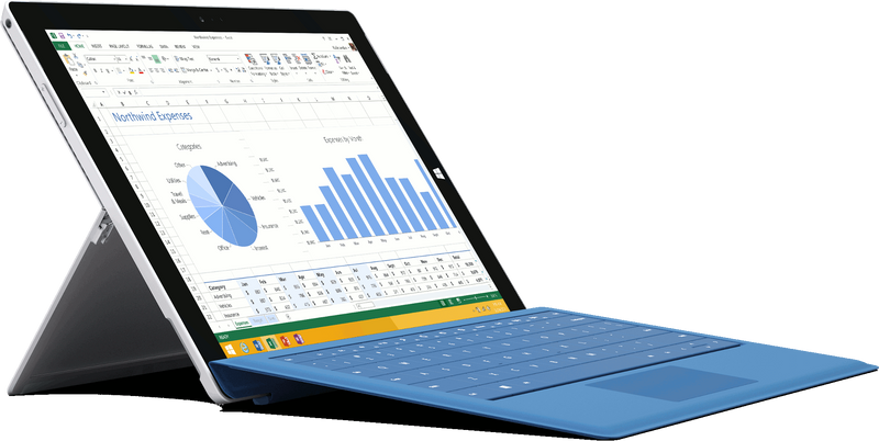 Microsoft Surface Pro 3 i5 angled big