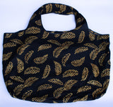 Tote: Black & Gold Leaves - KNOW INDO
