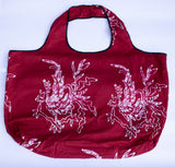Tote: Maroon & White Design - KNOW INDO