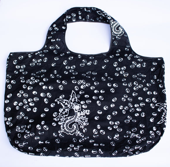Tote: Black & Coffee Beans - KNOW INDO
