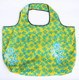 Tote: Green & Blue Flower - KNOW INDO