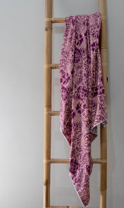 Blanket: Purple & Pink Flowers - KNOW INDO