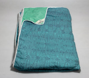 Blanket: Teal Aztec - KNOW INDO