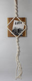 Macrame: Teak Wood Picture Hanger - KNOW INDO