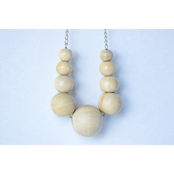 Necklace: White Sand - KNOW INDO