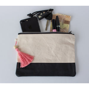 Clutch: Canvas & Pink Batik - KNOW INDO