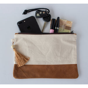 Clutch: Canvas & Gold Batik - KNOW INDO