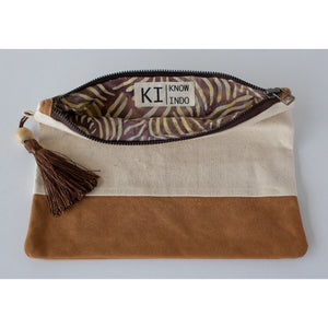 Clutch: Canvas & Striped Batik - KNOW INDO