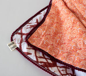 Blanket: Orange & Maroon - KNOW INDO