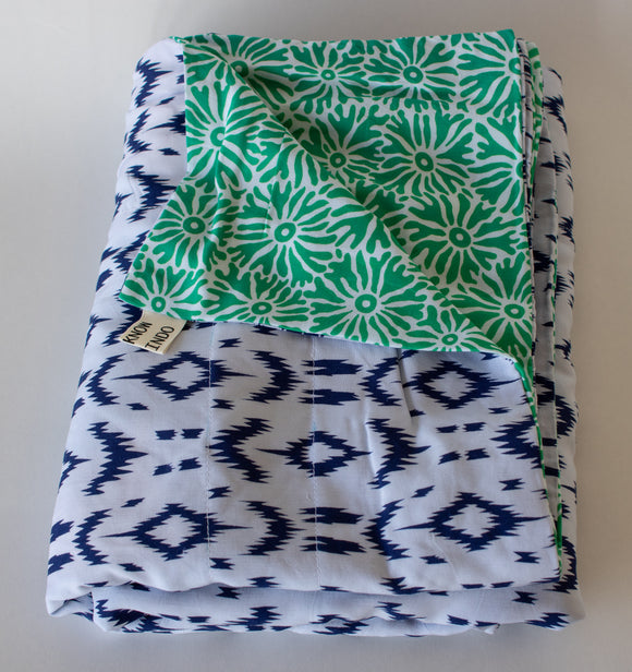 Blanket: Blue & Green - KNOW INDO
