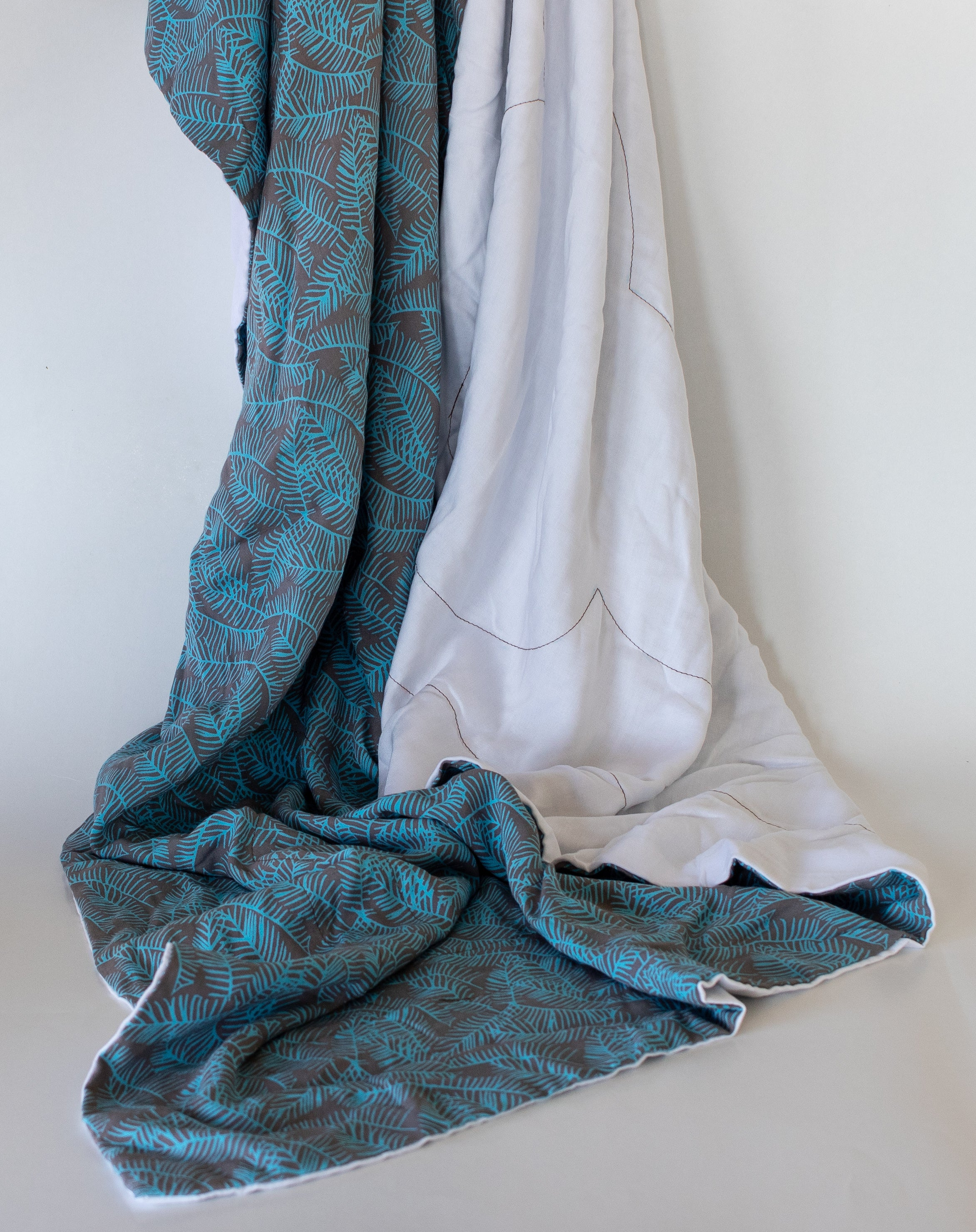 Blanket: Blue & White no Fringe - KNOW INDO