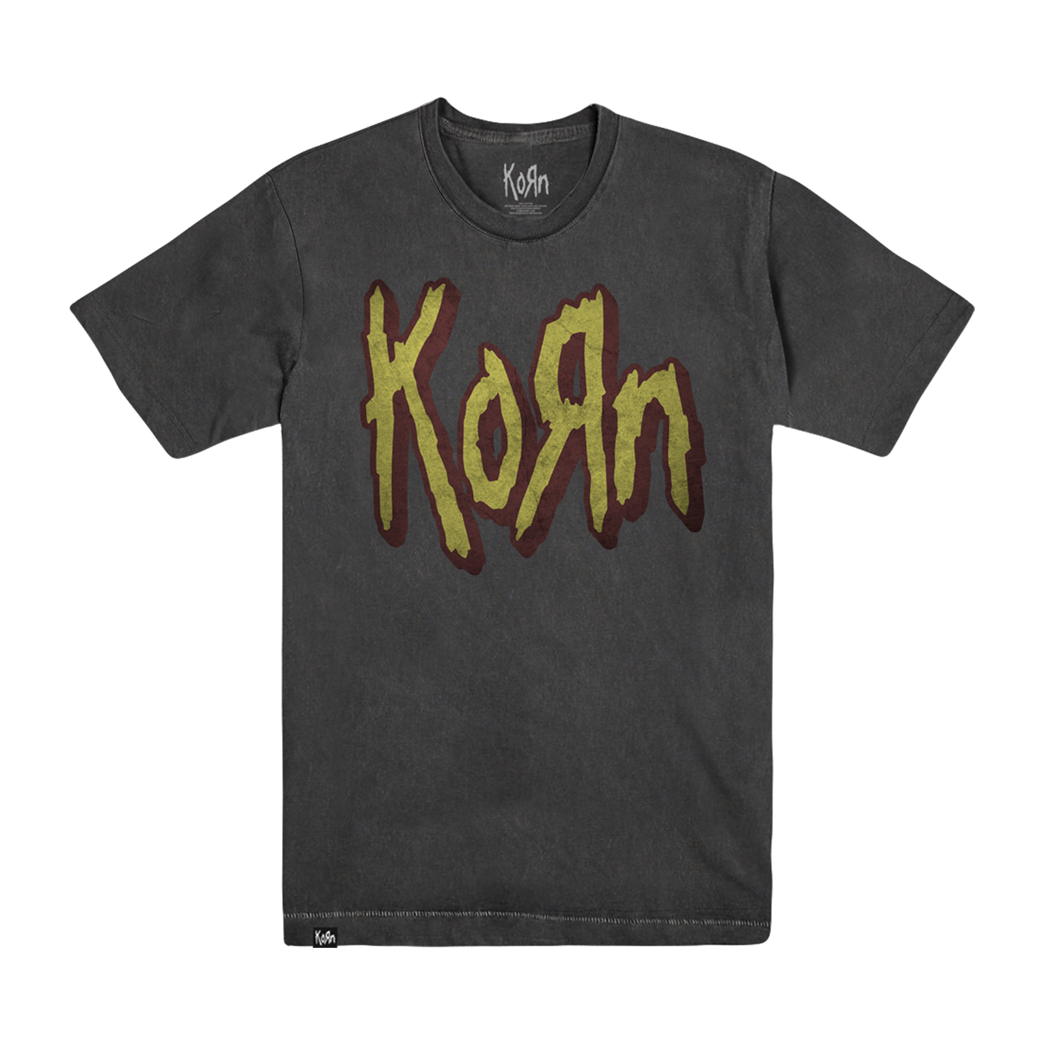 Official Korn 'Arena Oil Wash' Tee. Exclusive to kornlimited.com, Official Limited Edition, Official Merch, Official Store, Official Shop, Hoodie, Official Merchandise, T-shirt, Hoodie, Jacket, Shirts, Blind Jersey, Shirt, killermerch.com, Killer Merch