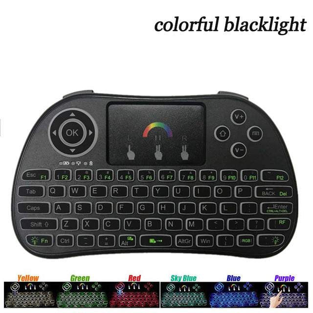 48c99ac2464 I86 Backlit Wireless Mini Keyboard Remote Control Colorful Backlight Air  Mouse for Android TV Box IPTV