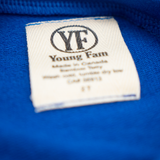 YOUNG FAM WHAT'S OLD IS NEW AGAIN CREWNECK - ELECTRIC BLUE BAMBOO TERRY