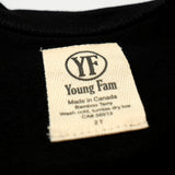 YOUNG FAM GANGSTER CARBS CREWNECK - BLACK BAMBOO TERRY