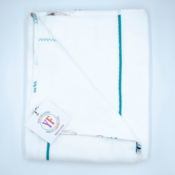 YOUNG FAM PLANT QUILT - ORGANIC DOUBLE GAUZE