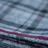 YOUNG FAM BURGANDY CHECK BLANKET - FLANNEL