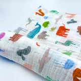 YOUNG FAM ANIMALS SWADDLE - COTTON