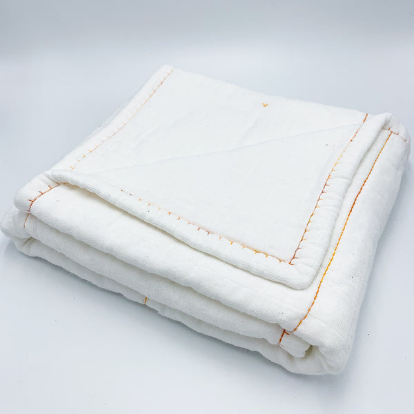 YOUNG FAM ORANGE BORDERS QUILT - ORGANIC COTTON