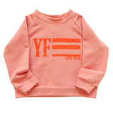 YOUNG FAM THINK YOUNG CREWNECK - HEATHER PEACH BAMBOO TERRY