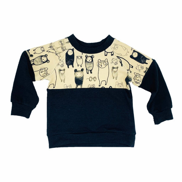 YOUNG FAM TEDDY CREWNECK - MOCHA TERRY