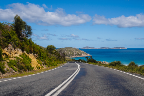 Road into Wilson's Prom