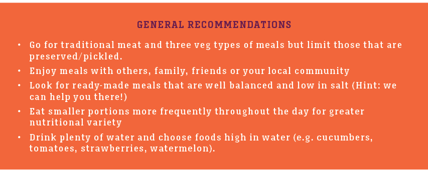 Dineamic Recommendations | Healthy Ageing