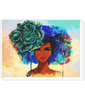 Landscape Canvas women with flower in her hair
