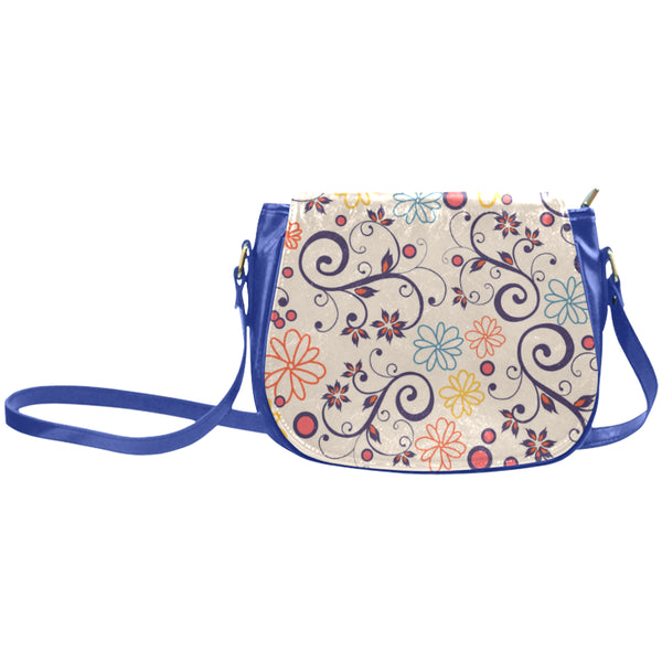 Sara Belle Blue Classic Saddle Bag/Large (Model 1648)