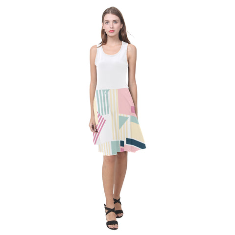 Abstract Atalanta Casual Sundress(Model D04)