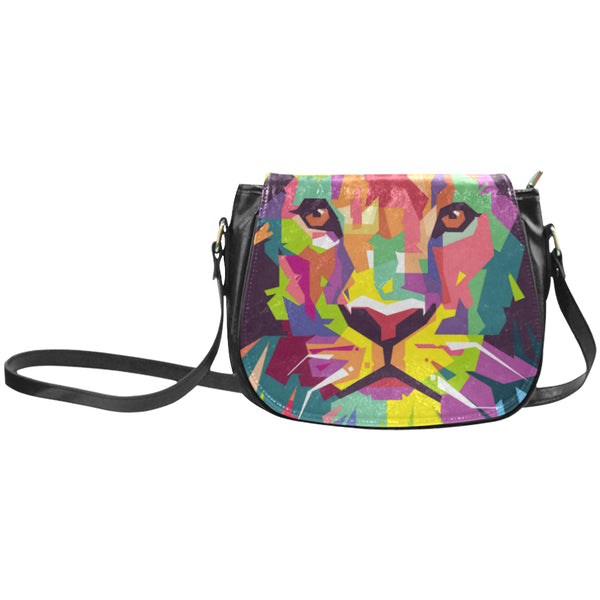 Lion King Black Classic Saddle Bag/Large (Model 1648)