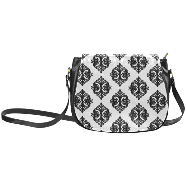 Micciah Black & White Tribal Classic Saddle Bag/Large (Model 1648)