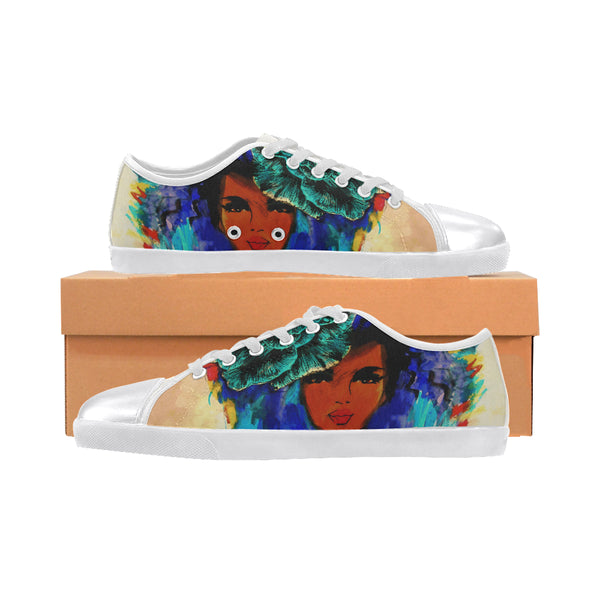 So so beautiful Women's Canvas Shoes (Model 016)