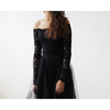 Black Off-The-Shoulder Lace and Tulle dress