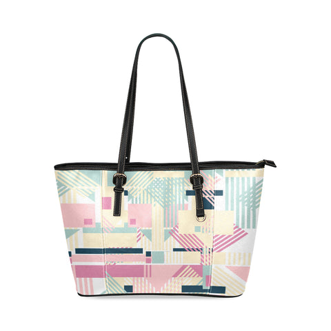Abstract Leather Tote Bag/Small (Model 1640)