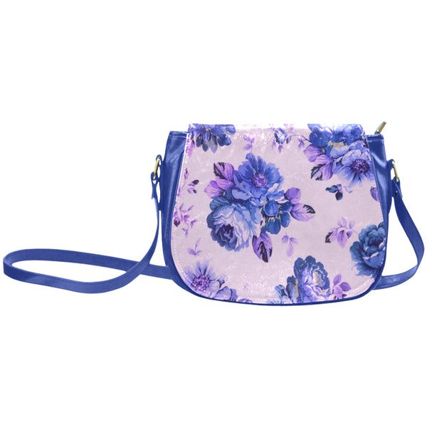 Blue Summerish Blue Saddle Bag Classic Saddle Bag/Large (Model 1648)