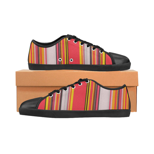 Blurred Lines Women's Canvas Shoes (Model 016)