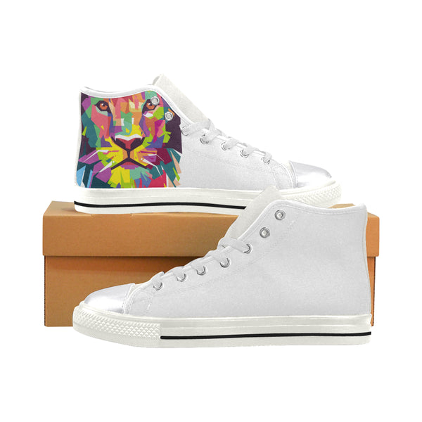 Lion King Women's Classic High Top Canvas Shoes (Model 017)