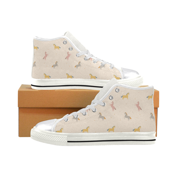 Horses Classic High Top Women's Classic High Top Canvas Shoes (Model 017)