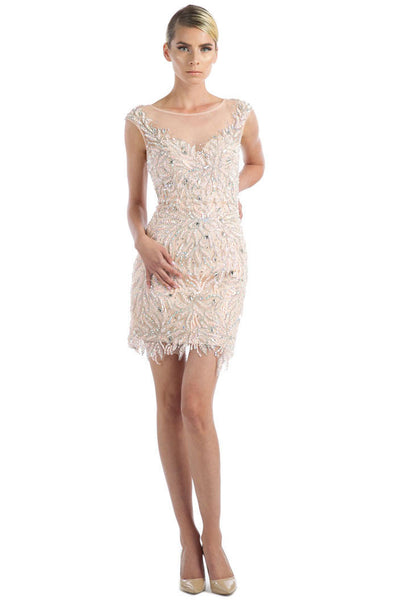 Daniella Elegant Cocktail Dress with Rhinestone Beading