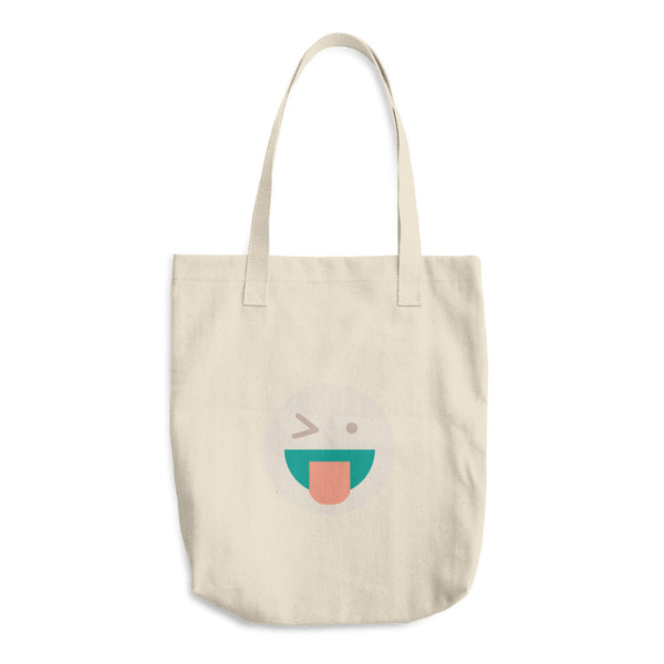Silly Face Cotton Tote Bag