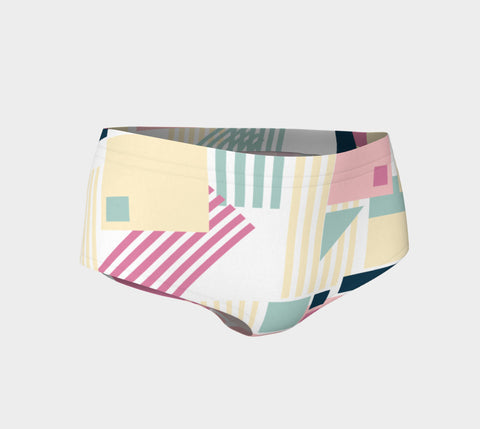 Abstract Booty Shorts