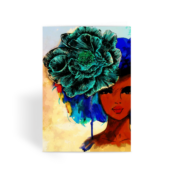 So so beautiful-color bkgrd Greeting Card