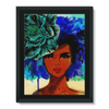 So so beautiful-color bkgrd Framed Canvas