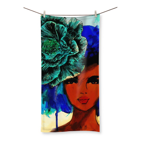 So so beautiful-color bkgrd Beach Towel