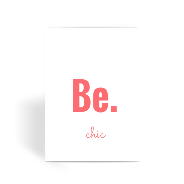 Be.chic Greeting Card