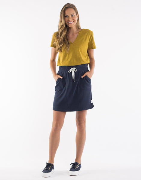 Hello Pattern Elm Cassie Skirt Navy